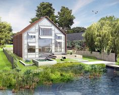 UK's First Amphibious House Approved for the River Thames, Floats on Rising Tides   Inhabitat - Green Design, Innovation, Architecture, Green Building