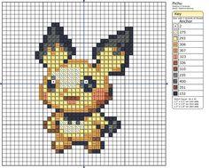 172 - Pichu cross stitch pattern by Makibird-Stitching ~ she has a lot of patterns!