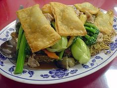 Chinese Crispy Gau Gee Mein (Cake Noodle Style). This is a popular dish on the menu of many Chinese restaurants. Delicious!