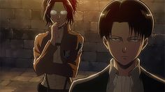 Animated gif uploaded by kawaii. Find images and videos about attack on titan, shingeki no kyojin and levi ackerman on We Heart It - the app to get lost in what you love. Hanji And Levi, Levi Mikasa, Levi Ackerman, Aot Gifs, Devil Aesthetic, Naruto Sasuke Sakura, Attack On Titan Fanart, Levihan, Losing A Dog
