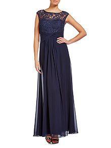 Cap sleeve illusion lace top dress