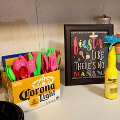 Fiesta Like Theres No Manana Sign, Fiesta Party Decorations, Mexican Party Sign - Mexican Fiesta Birthday Party, Fiesta Theme Party, Frat Party Themes, Fiesta Party Decorations, Bar Decorations, Decor Ideas, Taco Bar Party, Fiesta Shower, 30th Birthday Parties