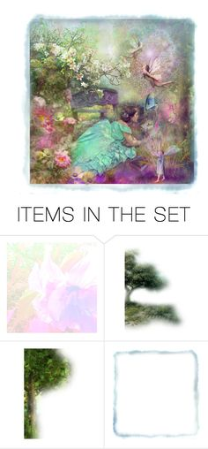 """""""Enchanted Garden"""" by thresholdpaperart ❤ liked on Polyvore featuring art"""