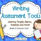 Included in this file is everything that you need to assess your students on the third grade common core writing standards.  All of the work has be...