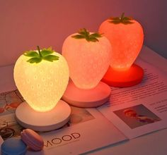 Touch Dimmable Strawberry Silicone Table Lamp - Source by electronicprince - Cute Room Ideas, Cute Room Decor, Dream Rooms, Dream Bedroom, My New Room, My Room, Kawaii Room, Aesthetic Room Decor, Room Goals