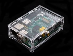 Raspberry Pi case. Computer the size of a pack of cigarettes.