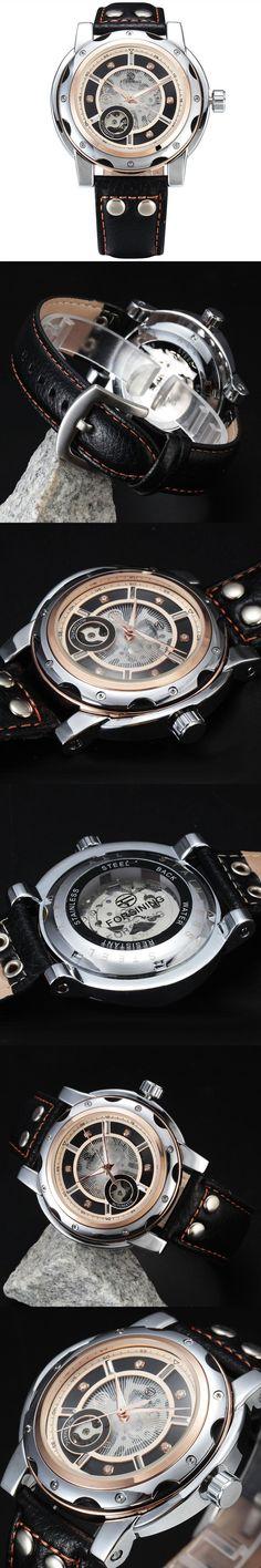 FORSINING Sport Diamond Style Small Dial Skeleton Design Automatic Mechanical Watch Men Watches Top Brand Luxury Men Sport Watch