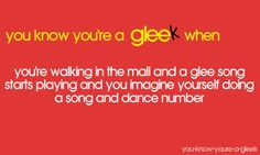 You know your a gleek when...