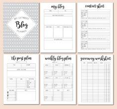 Printable blogging planner!