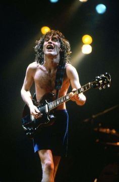 Angus Young: No other rock guitarist has such a familiar sound. It's the sound of a Gibson SG played with no effects through wide open Marshall amps. He is the premier rock guitarist.....