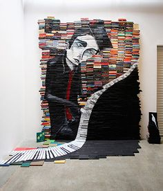 Pinturas sobre libros. By Mike Stilkey. #Reciclar #Arte http://www.theguardian.com/artanddesign/gallery/2014/jul/20/mike-stilkeys-paintings-salvaged-books-in-pictures#/?picture=442447110&index=8