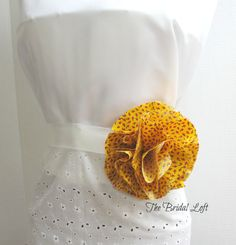 Yellow Dress Sash, Yellow Black and Red Flower Sash, Matching Items Available, by BridalLoft, on Etsy