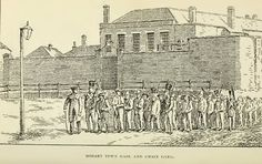 Hobart Town Gaol and Chain Gang Van Diemen's Land, Historical Pictures, Tasmania, Beautiful Islands, Britain, The Past, Australia, Image, Chain