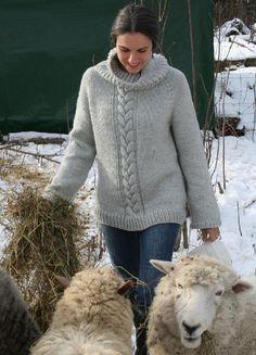 Top down Cozy Weekend Sweater. Knitting pattern by Amanda Lilley | Knitting Patterns | LoveKnitting