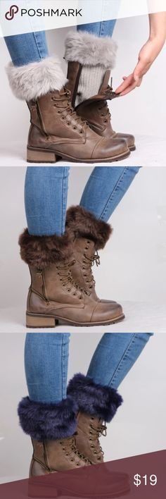 ✅PurchaseNow  OJDC Accessory | Sock cotton/acrylic blend | price firm unless bundled | boots with the faux fur are already so expensive, why not wear your favorite boots from your closet and just add the versatile look of warmers!  DID WE SELL OUT OF YOUR COLOR? RESERVE YOUR COLOR by pre-ordering at oceanjewelersdesignco.com (link in bio) and guarantee you'll receive yours when it becomes available. FYI, pre-orders receive free shipping | OJDC Accessories Hosiery & Socks