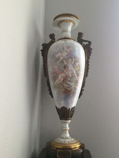 Pair -Late 19th Century Signed Sevres Urns #Serves
