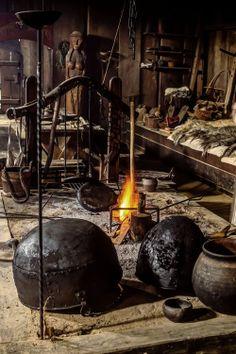 Viking's House Fireplace by Jorgen Norgaard.