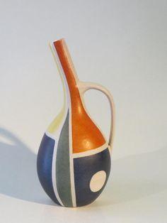 50er Jahre Keramik Vase von KRÖSSELBACH - Form 61 (27 cm)  small crack at handle
