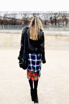 Black and plaid.