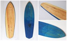 these 'handmade with love' wooden skateboards by la planche a roues are based on the original californian 'cruiser' style.