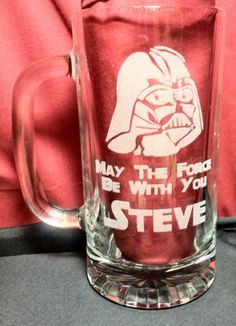 Darth Vader Star Wars Beer Mug, Engraved