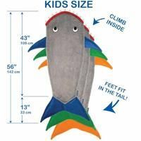 Blankie Tails Kids Shark Tail Blanket size chart