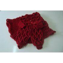 Saída De Maternidade Tricot Manta E Macacão Inverno Vermelha
