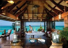 The magnificent Main House at Necker Island, British Virgin Islands