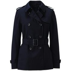 trench coat Cose da indossare ❤ liked on Polyvore featuring outerwear, coats, blue coat, blue trench coat and trench coat