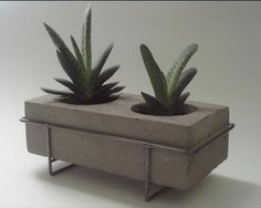 cement planter steel frame