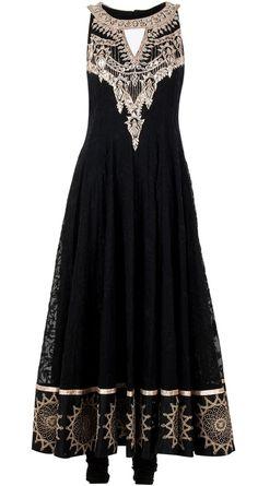black anarkali suits