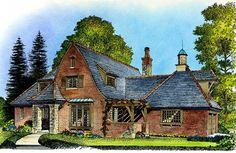 English Cottage - 43001PF   1st Floor Master Suite, Corner Lot, European, MBR Sitting Area, PDF   Architectural Designs