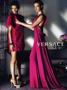Isabeli Fontana and Natalia Vodianova for Versace by Mario Testino F/W 2008-09 Campaign