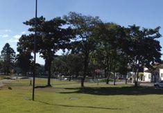 Praça principal da cidade de Cerqueira César (SP).