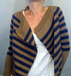 An assortment of free knitting patterns for women's hand knit cardigans and zip and button up style of sweaters. Knitting Patterns Free, Knit Patterns, Free Knitting, Free Pattern, Sweater Patterns, Cardigan Pattern, Knit Cardigan, Striped Cardigan, Striped Knit