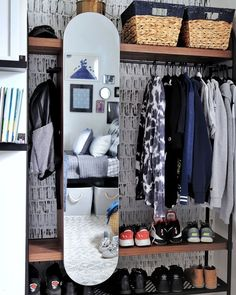 Lindon Place Hanging Wardrobe via BHG Live Better influencer Made By Carli. #wardrobe #openwardrobe #opencloset #closetideas #organization #storage #wardrobedesign #bedroom #wardrobeorganization #openclosetideas #smallspacesolutions Maple Furniture, Hanging Wardrobe, Creative Kids Rooms, Boys Closet, Kids Room Organization, Small Closets, Boys Bedroom Decor, Affordable Furniture, Better Homes And Gardens
