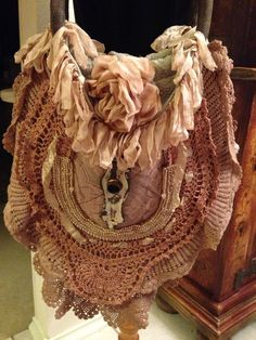 Magnolia Pearl Large Colorful Fabric Ribbon Trim Satchel Hobo Shoulderbag Purse | eBay