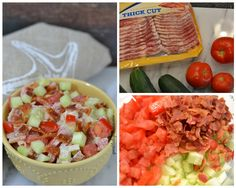 Share Tweet Pin Mail This salad is absolutely delicious and really reminds me of the most delicious BLT sandwich.  Minus the bread and minus ...