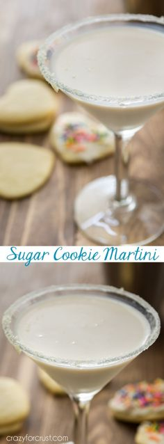 This Sugar Cookie Martini is the perfect signature dessert cocktail for any party. Only 3 ingredients and it tastes like a sugar cookie!