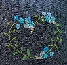 Heart ♡ Blue flowers