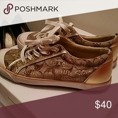 Coach Sneakers Gold lettering and Coach logo Coach Shoes Sneakers