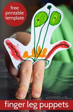 Finger Leg Puppets! - Super cute to turn something that the kids draw into finger puppets!