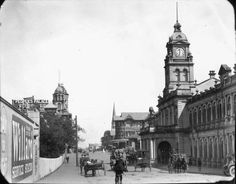 Picture of / about 'Ann Street' Queensland - View of Ann Street, including the Brisbane Central railway station and the People's Palace Brisbane Cbd, Brisbane Queensland, Brisbane Australia, Brisbane Gold Coast, Australian Photography, Vintage Architecture, Sunshine State, The Good Old Days