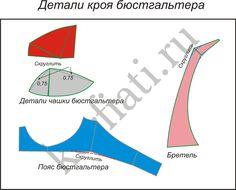Выкройка бюстгальтера - детали кроя