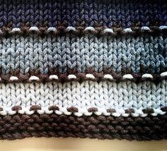 Summer Coastal Stripy Blanket