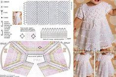 patrones de vestidos de crochet para niña
