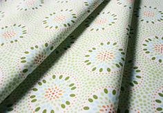Fabric Finders #464 Green Dots Floral