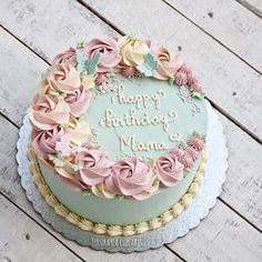 easy ways to decorate a chocolate cake Buttercream Flower Cake, Cake Icing, Eat Cake, Cupcake Cakes, Pretty Cakes, Beautiful Cakes, Mothers Day Cake, Rose Cake, Floral Cake