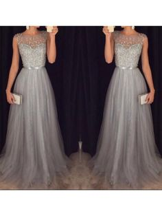 New Arrival Cap Sleeves Beading Prom Dresses,Charming Gray Evening Dresses,A-line Modest Prom Gowns,Long Prom Gowns Modest Prom Gowns, Junior Prom Dresses, Prom Dresses 2016, Prom Dresses For Teens, Long Prom Gowns, Formal Gowns, Dress Formal, Party Dresses, Prom Long