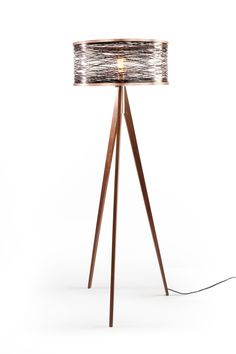 Just Modern, Inc. - Sinuous Black Floor Lamp by Marcus Papay